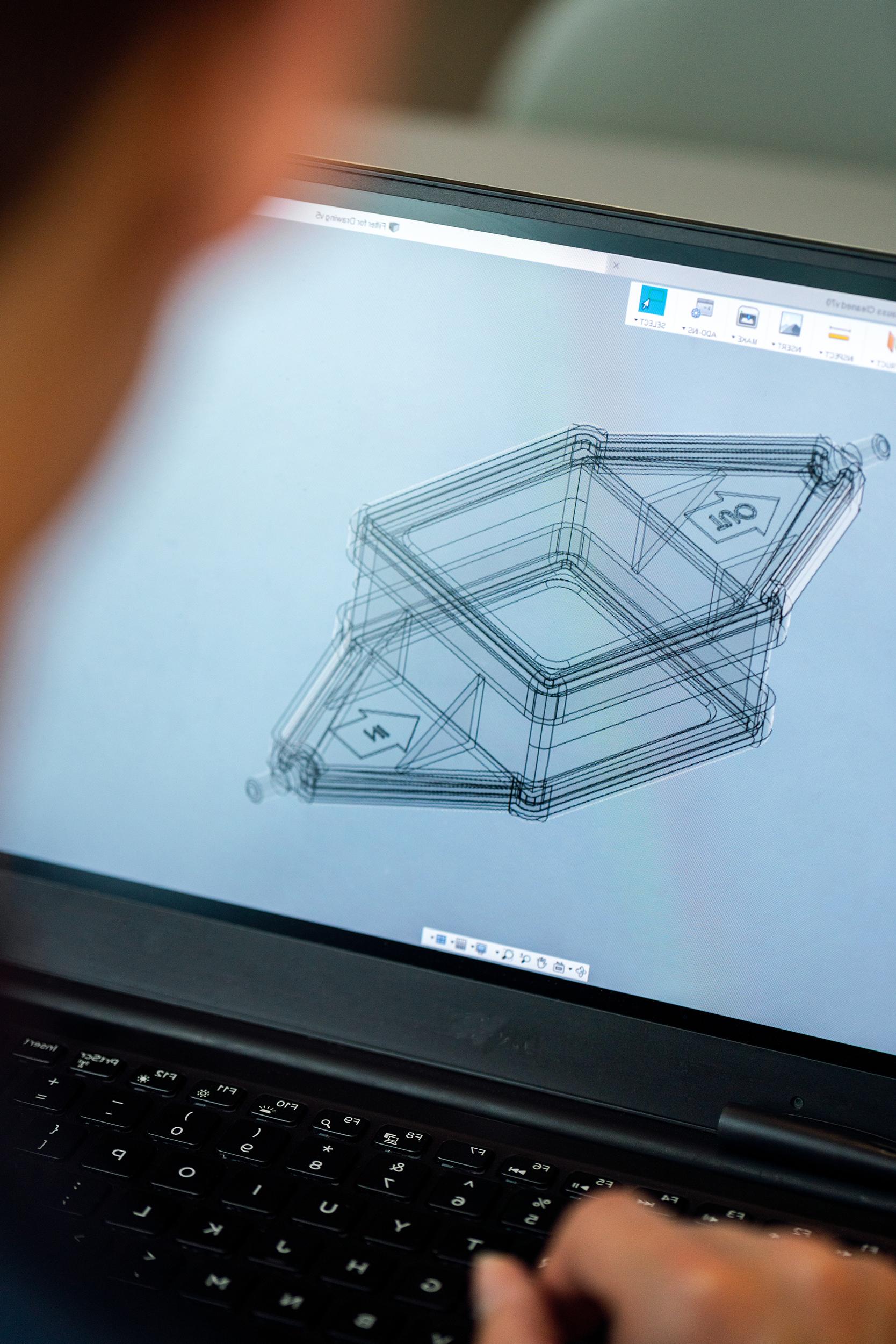 CAD Design on a computer screen